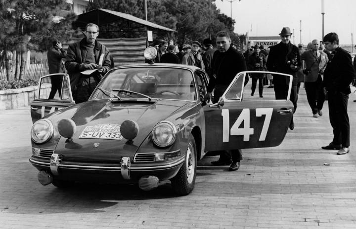 Peter Falk und Herbert Linge Rallye Monte-Carlo, 1965