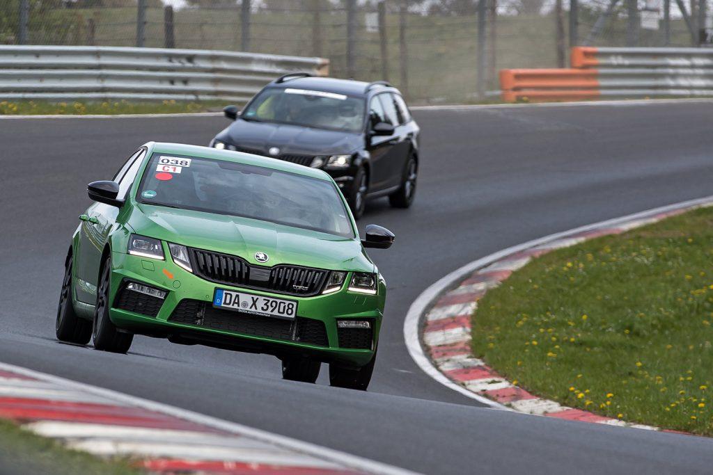 Max Schwede im ŠKODA OCTAVIA RS auf der Nordschleife des Nürburgrings