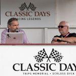Tom Schwede bei der Moderation bei den Classic Days Schloss Dyck