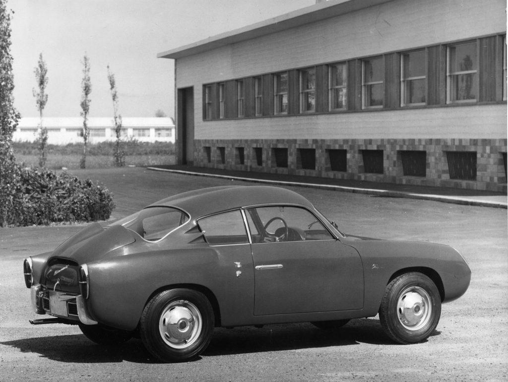 Heckansicht Fiat Abarth 750 Zagato Coupé von 1958