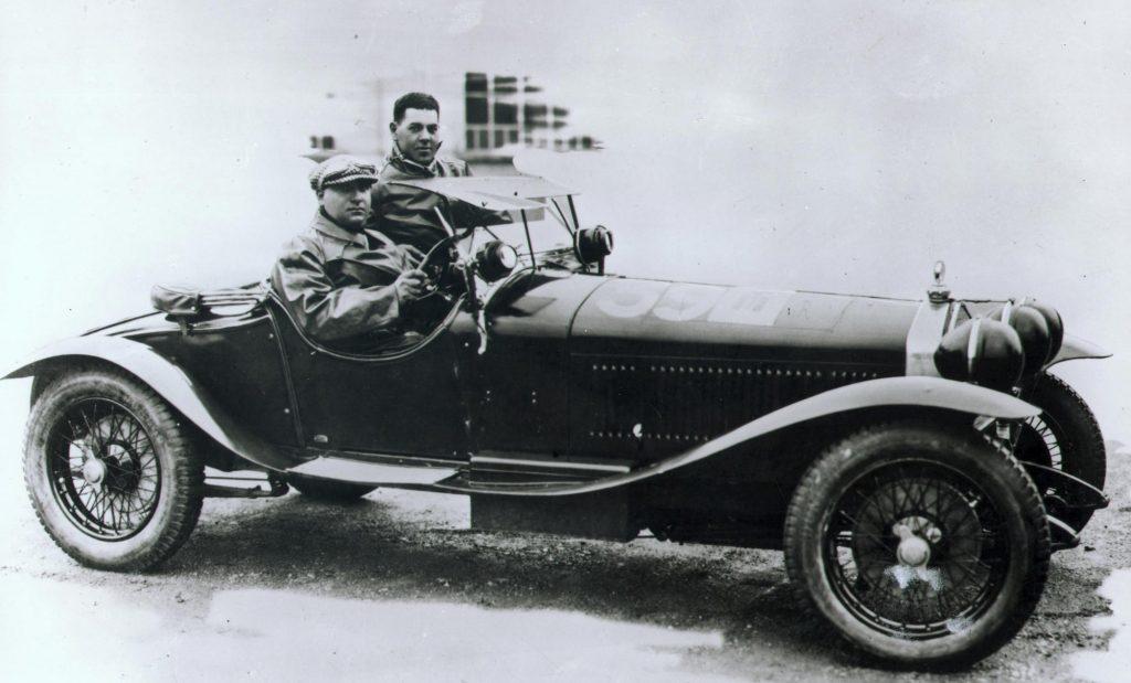 Giuseppe Campari und Giulio Ramponi, Sieger der Mille Miglia 1928 und 1929