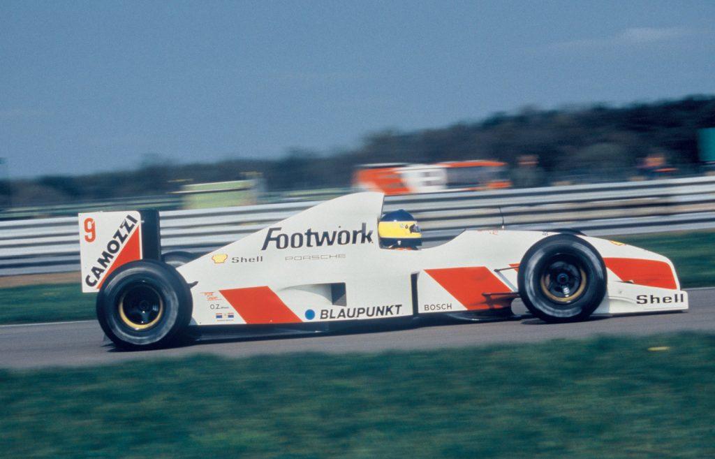 Michele Alboreto im Footwork-Arrows Porsche